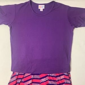 Kids Lularoe Skirt and Top Size 8
